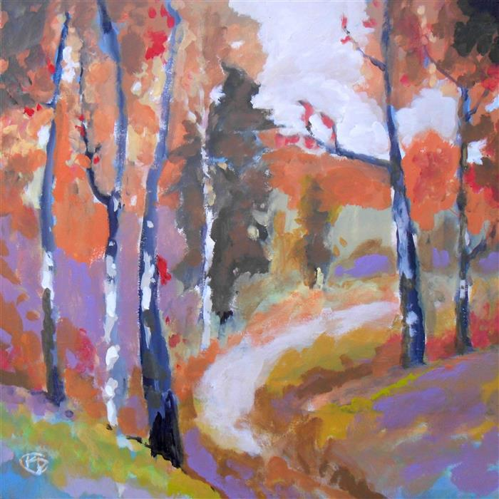 Discover Original Art by Kip Decker | Autumn Trail acrylic painting | Art for Sale Online at UGallery