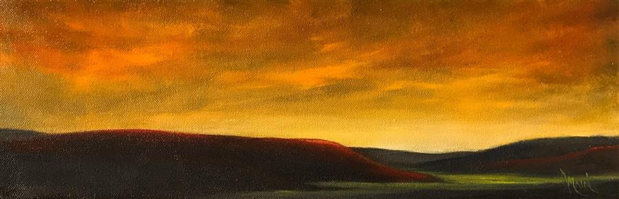 Discover Original Art by Mandy Main | Red Hills IV oil painting | Art for Sale Online at UGallery