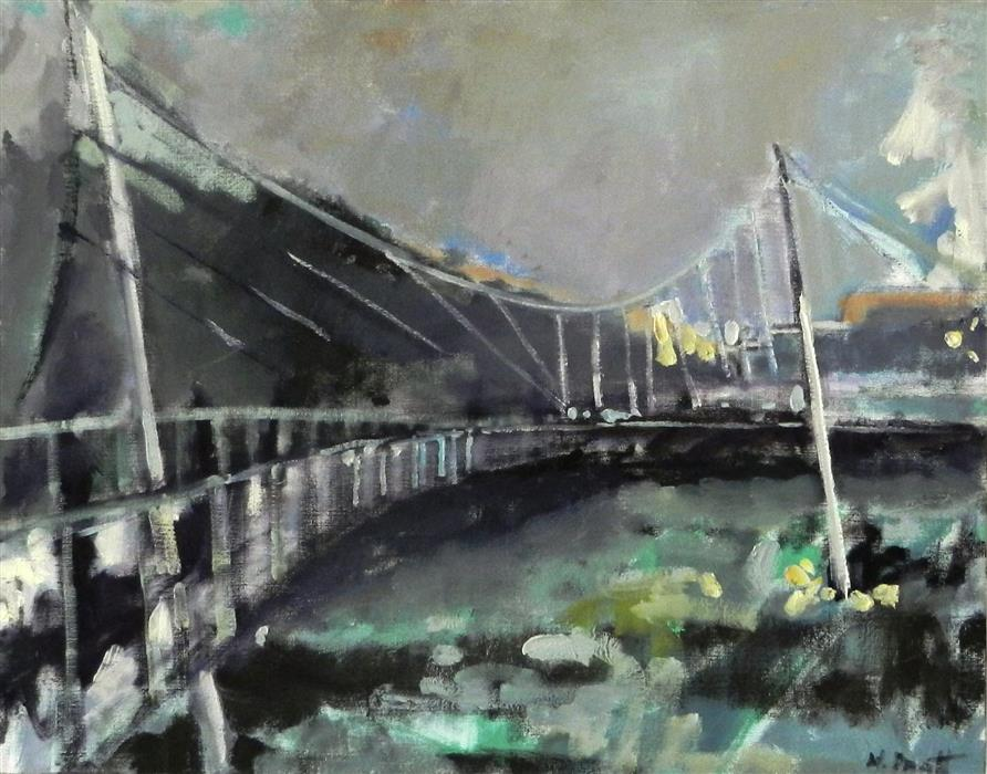 Discover Original Art by Mary Pratt | Bridge oil painting | Art for Sale Online at UGallery