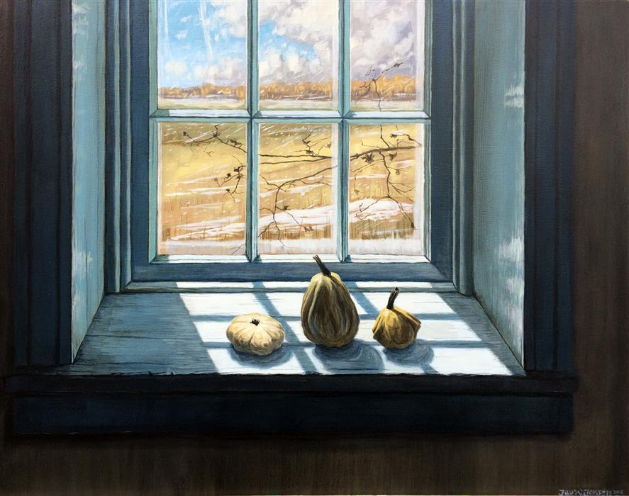 Discover Original Art by Jay Jensen | Wyeth's Backyard oil painting | Art for Sale Online at UGallery