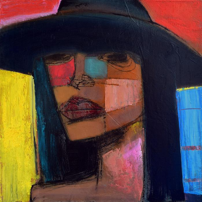Discover Original Art by Allen Wittert | Woman in a Hat oil painting | Art for Sale Online at UGallery
