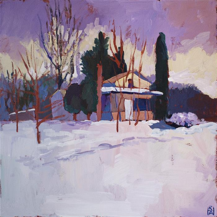 Discover Original Art by Robert Hofherr | That Winter Weather acrylic painting | Art for Sale Online at UGallery