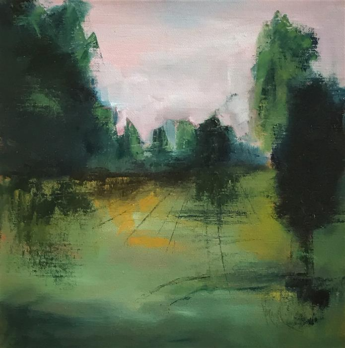 Discover Original Art by Mandy Main | Greenscape oil painting | Art for Sale Online at UGallery
