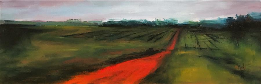Discover Original Art by Mandy Main | Red Road XIV oil painting | Art for Sale Online at UGallery