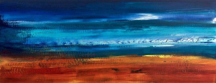 Discover Original Art by Alicia Dunn | Walking across the Sea acrylic painting | Art for Sale Online at UGallery
