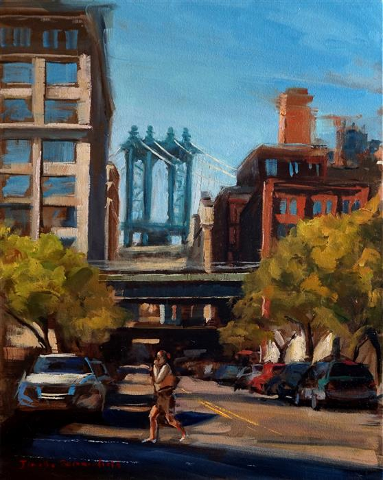 Discover Original Art by Jonelle Summerfield | Brooklyn oil painting | Art for Sale Online at UGallery