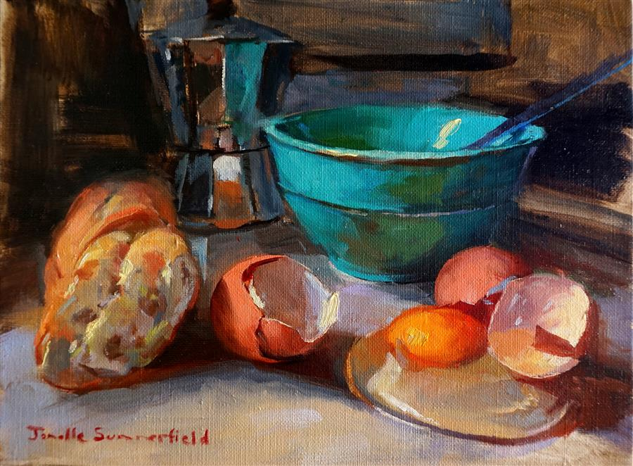 Discover Original Art by Jonelle Summerfield | Breakfast II oil painting | Art for Sale Online at UGallery