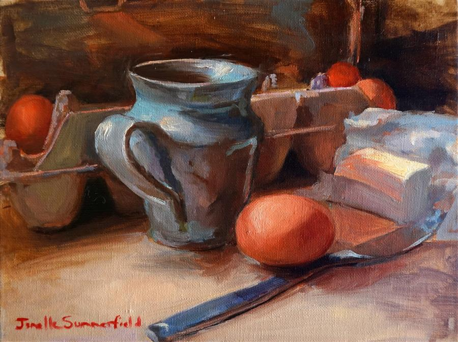 Discover Original Art by Jonelle Summerfield | Breakfast III oil painting | Art for Sale Online at UGallery