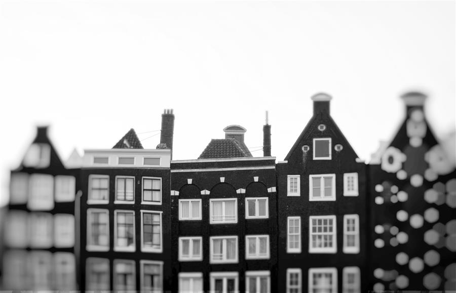 Original art for sale at UGallery.com | Holland Houses by CARINA OKULA | $170 |  | ' h x ' w | \art\photography-Holland-Houses