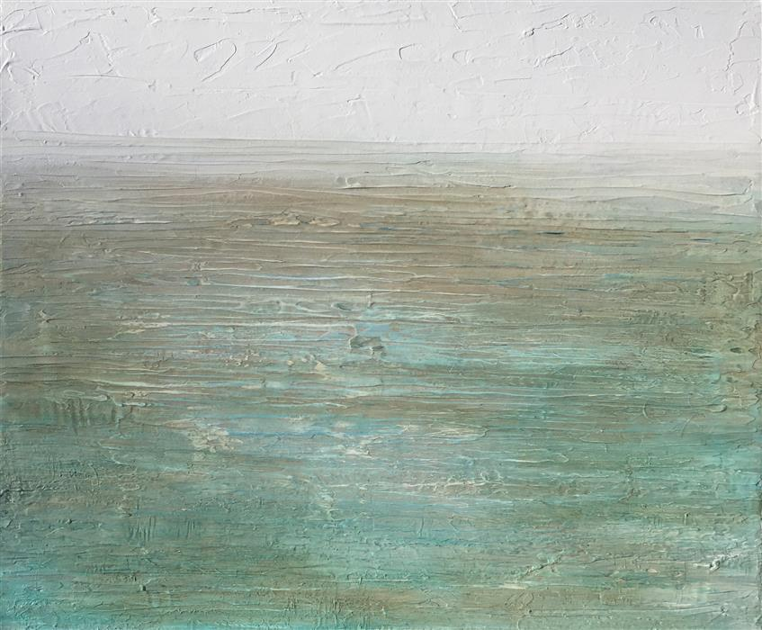 Discover Original Art by Ruth LaGue | Turquoise Mist acrylic painting | Art for Sale Online at UGallery