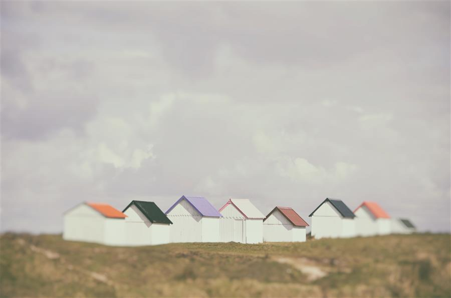 Original art for sale at UGallery.com | Beach Huts 3 by CARINA OKULA | $170 |  | ' h x ' w | \art\photography-Beach-Huts-3