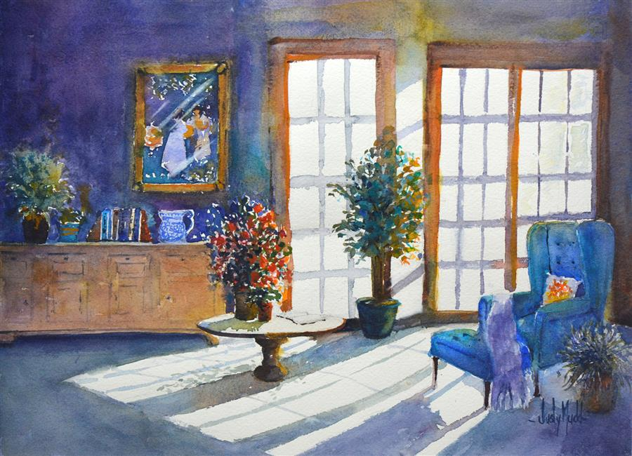 Discover Original Art by Judy Mudd | The Room watercolor painting | Art for Sale Online at UGallery
