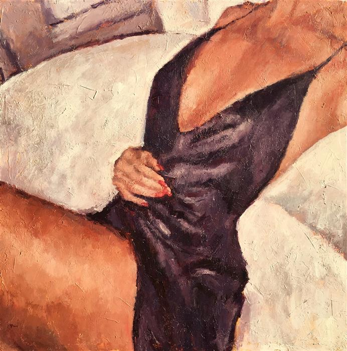 Discover Original Art by Nava Lundy | Silk Nightgown  acrylic painting | Art for Sale Online at UGallery