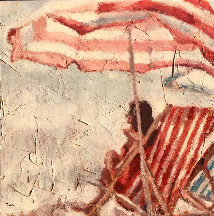 Discover Original Art by Nava Lundy | Under Her Umbrella  acrylic painting | Art for Sale Online at UGallery