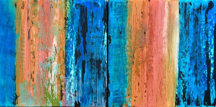 Discover Original Art by Alicia Dunn | Stripped Away No. 1 and No. 2 acrylic painting | Art for Sale Online at UGallery