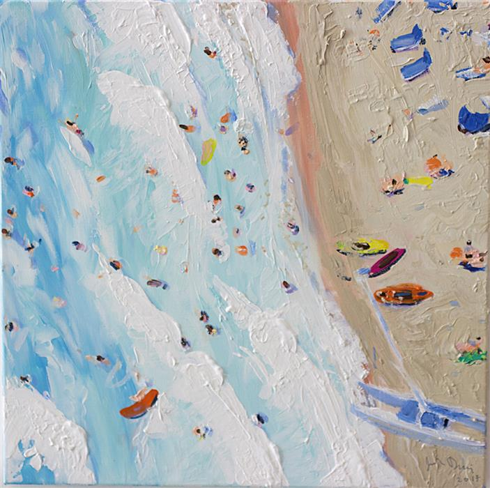 Discover Original Art by Joe Davis | Surf Study 2 acrylic painting | Art for Sale Online at UGallery