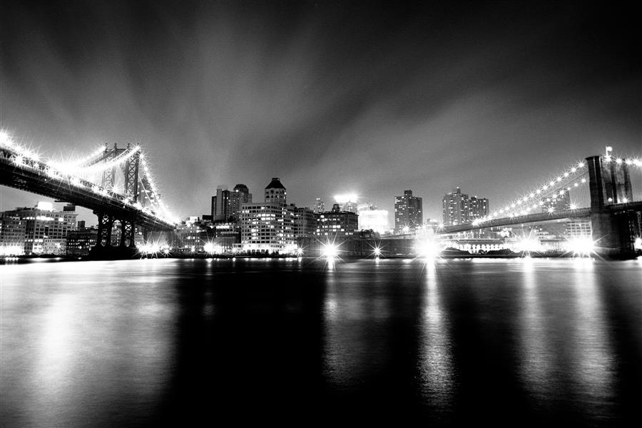 Original art for sale at UGallery.com | East River Bridges by ADAM GARELICK | $195 |  | ' h x ' w | \art\photography-East-River-Bridges