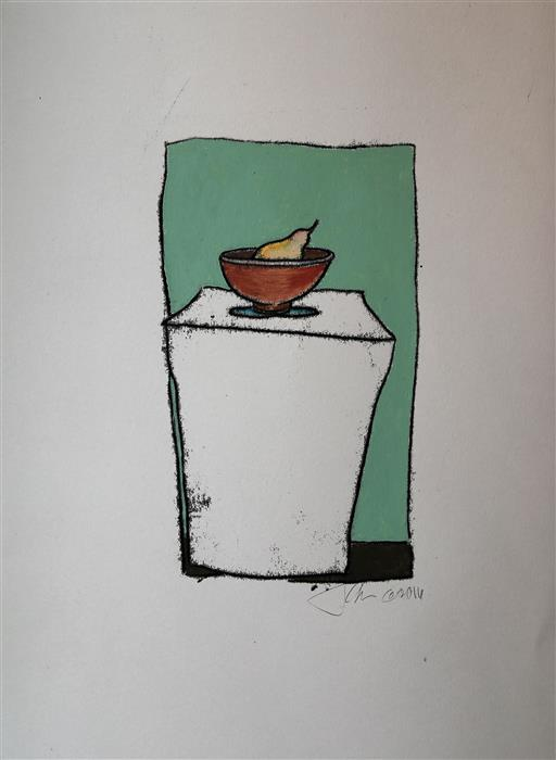 Discover Original Art by James Rees | Pear printmaking | Art for Sale Online at UGallery