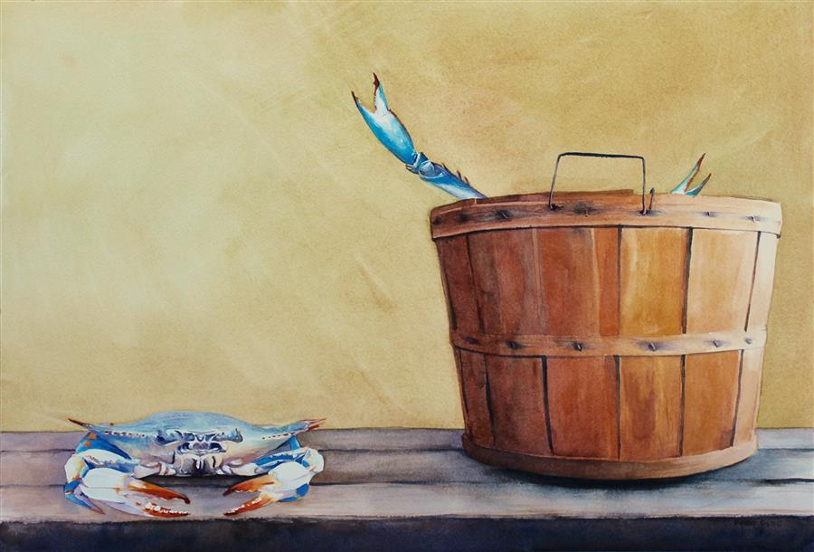 Discover Original Art by Dwight Smith | Blind Date watercolor painting | Art for Sale Online at UGallery
