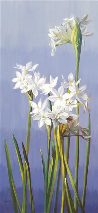 Discover Original Art by Tami Cardnella | Narcissus oil painting | Art for Sale Online at UGallery