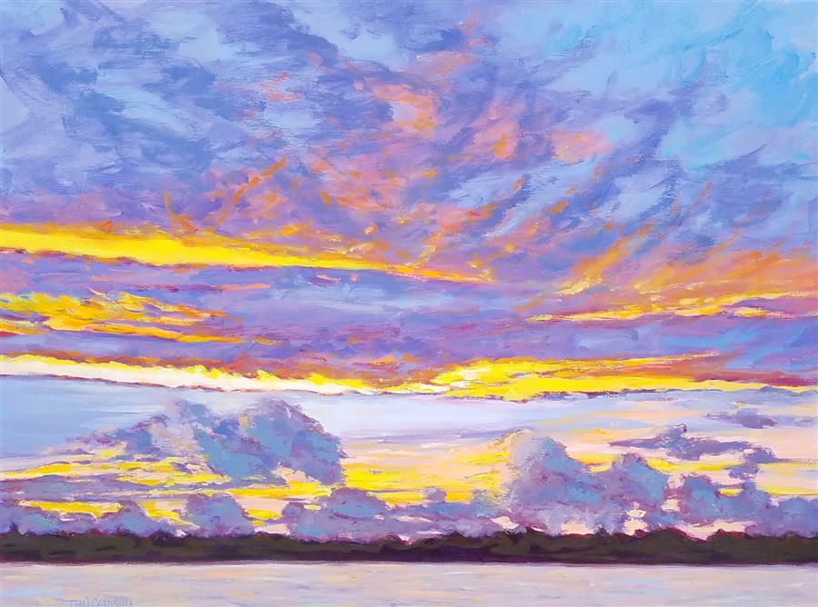 Discover Original Art by Tami Cardnella | Sky Series #15 oil painting | Art for Sale Online at UGallery