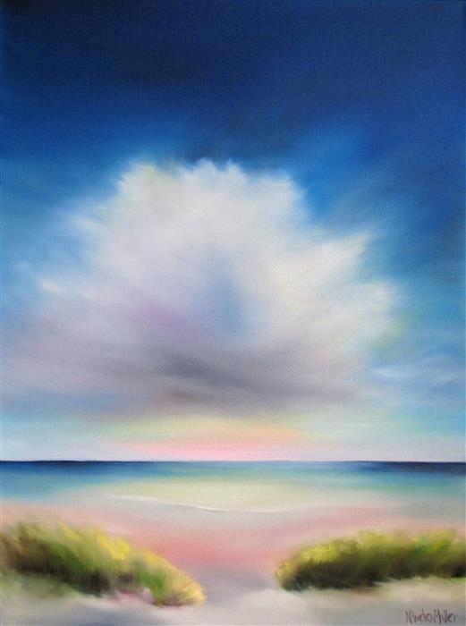 Discover Original Art by Nancy Hughes Miller | Cloud Over Beach oil painting | Art for Sale Online at UGallery