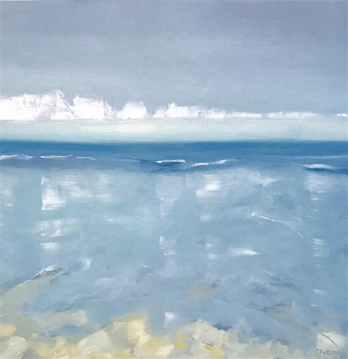 Discover Original Art by Patricia Fabian | Satin Surf oil painting | Art for Sale Online at UGallery