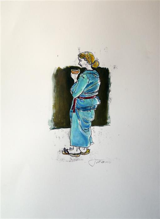 Discover Original Art by James Rees | Tea Ceremony printmaking | Art for Sale Online at UGallery