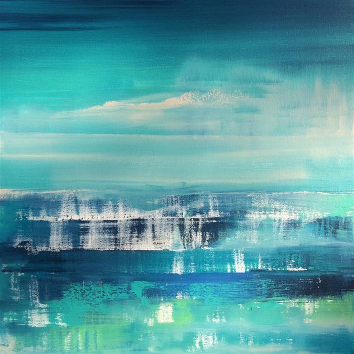 Discover Original Art by Alicia Dunn | Falling Waters acrylic painting | Art for Sale Online at UGallery