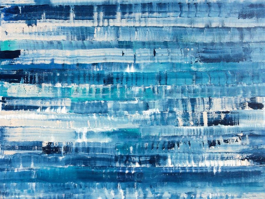 Discover Original Art by Alicia Dunn | Shibori acrylic painting | Art for Sale Online at UGallery