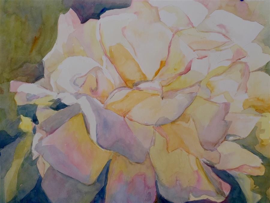 Discover Original Art by Jo Mackenzie | Kathy's Rose watercolor painting | Art for Sale Online at UGallery