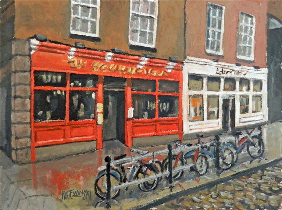 Discover Original Art by Robert  Holewinski | The Shack Restaurant, Dublin oil painting | Art for Sale Online at UGallery