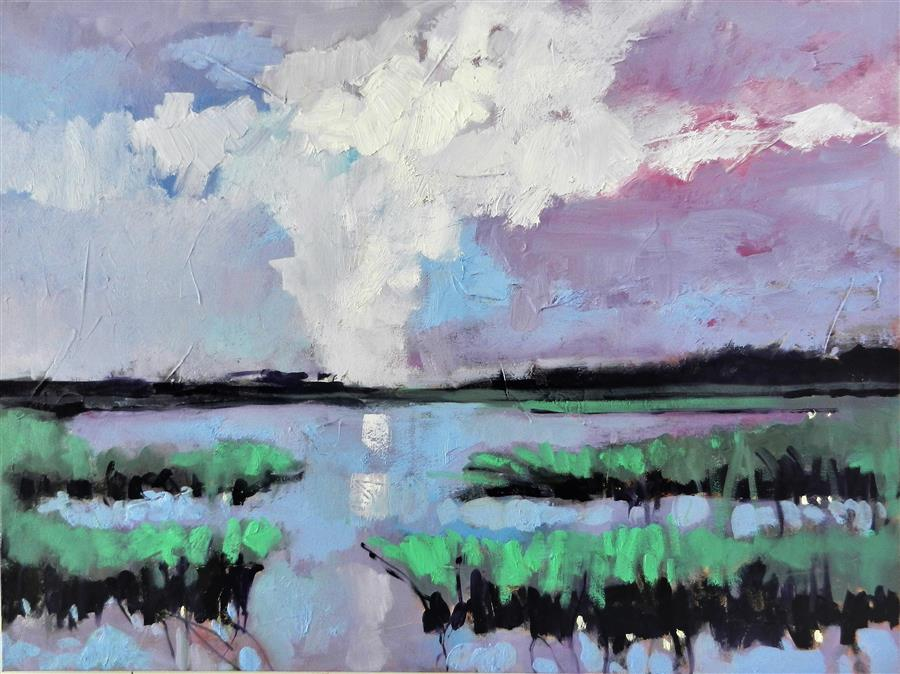 Discover Original Art by Mary Pratt | Clouds oil painting | Art for Sale Online at UGallery