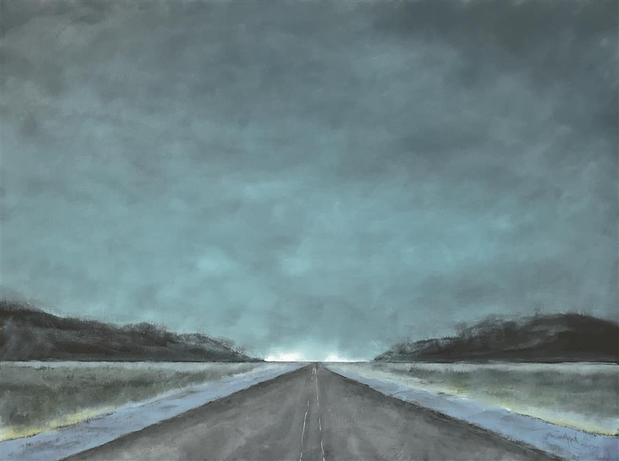 Discover Original Art by Mandy Main | Vanishing Point VIII oil painting | Art for Sale Online at UGallery