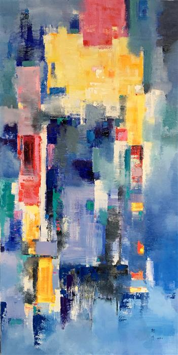 Discover Original Art by Jingshen You | Cityscape Abstract 256 oil painting | Art for Sale Online at UGallery