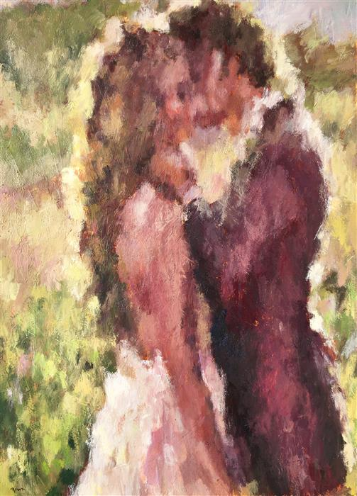 Discover Original Art by Nava Lundy | Wedding Day acrylic painting | Art for Sale Online at UGallery