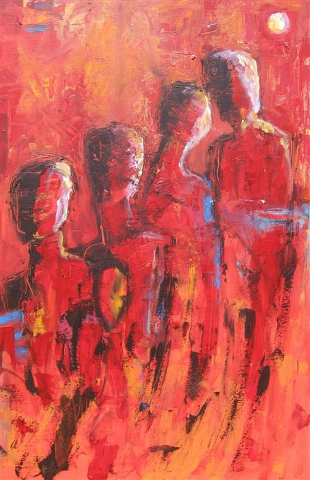 Discover Original Art by Ron Klotchman | Group Think acrylic painting | Art for Sale Online at UGallery