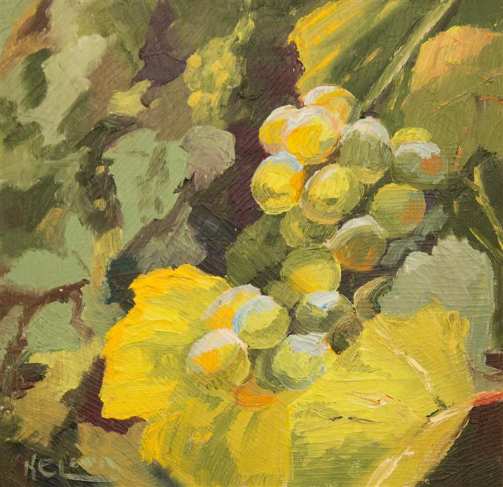 Discover Original Art by Karen E Lewis | White Grapes oil painting | Art for Sale Online at UGallery