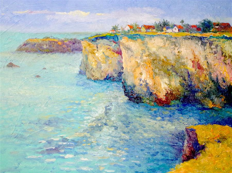 Discover Original Art by Suren Nersisyan | Pacific Coast (Santa Barbara) oil painting | Art for Sale Online at UGallery
