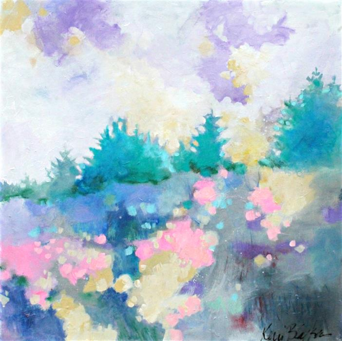 Discover Original Art by Kerri  Blackman | Spring in the Meadow acrylic painting | Art for Sale Online at UGallery