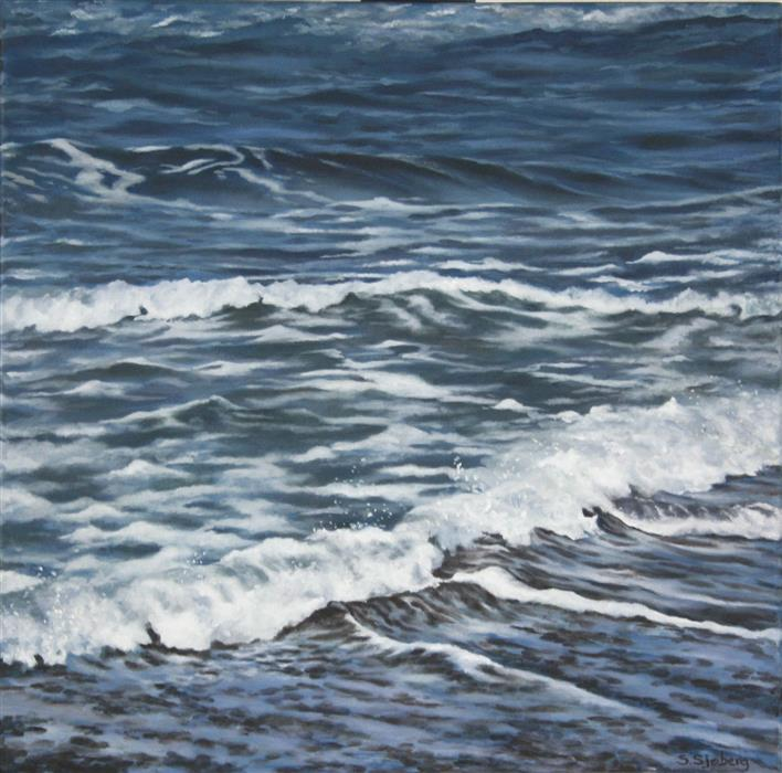 Discover Original Art by Susan Sjoberg | Pacific Surf acrylic painting | Art for Sale Online at UGallery
