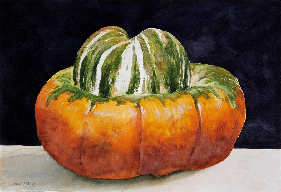 Discover Original Art by Dwight Smith | Turban Squash watercolor painting | Art for Sale Online at UGallery