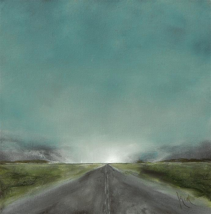 Discover Original Art by Mandy Main | Vanishing Point IX oil painting | Art for Sale Online at UGallery