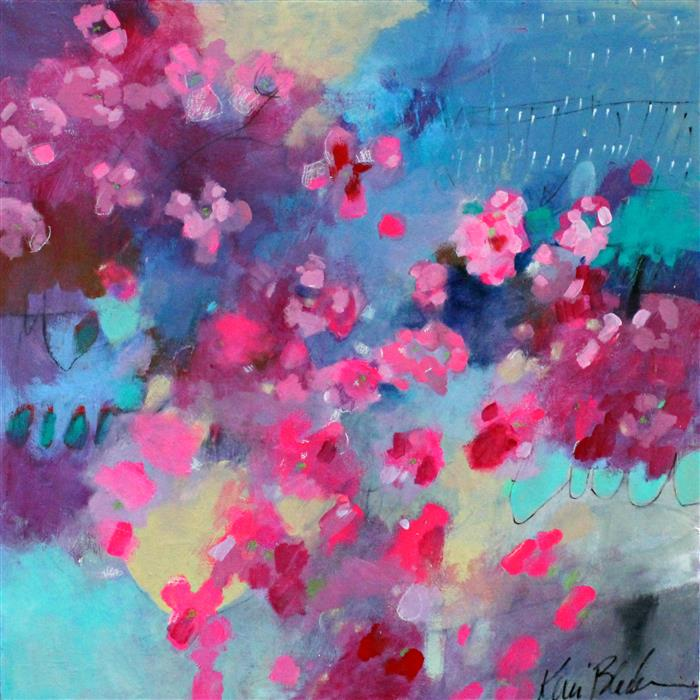 Discover Original Art by Kerri  Blackman | Cherry Blossom Weather acrylic painting | Art for Sale Online at UGallery