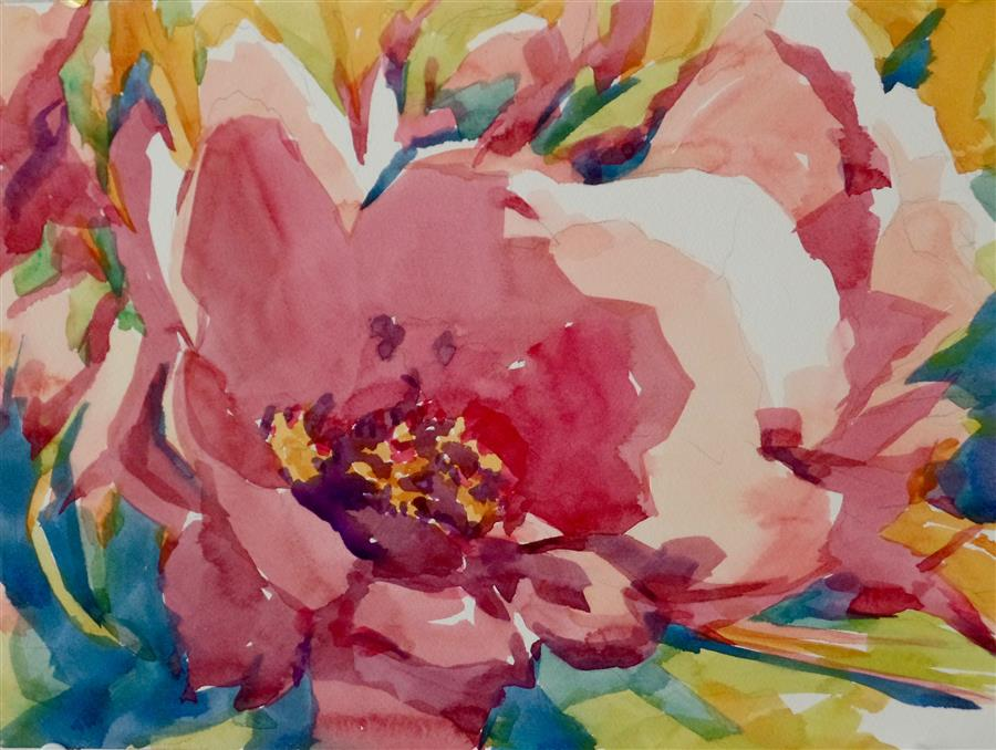 Discover Original Art by Jo Mackenzie | Busting Out watercolor painting | Art for Sale Online at UGallery
