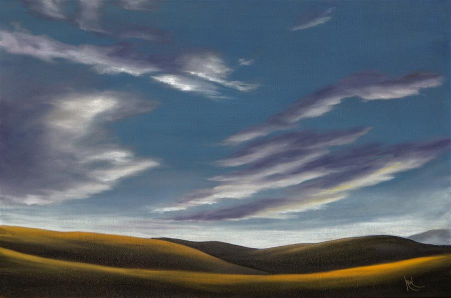 Discover Original Art by Mandy Main | Golden Hills XVII oil painting | Art for Sale Online at UGallery