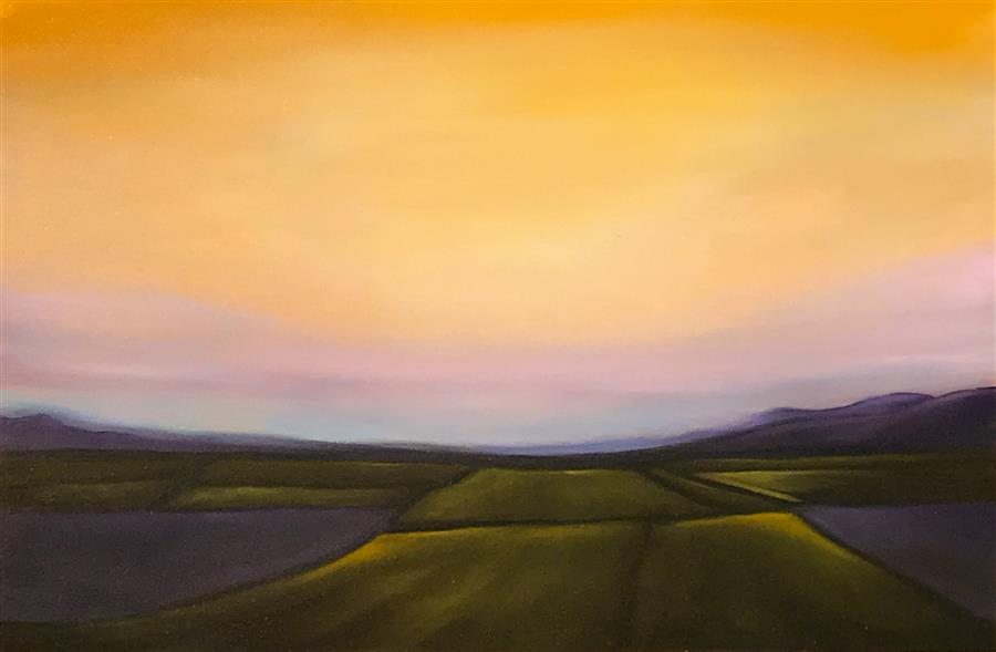 Discover Original Art by Mandy Main | Purple Mountains VII oil painting | Art for Sale Online at UGallery