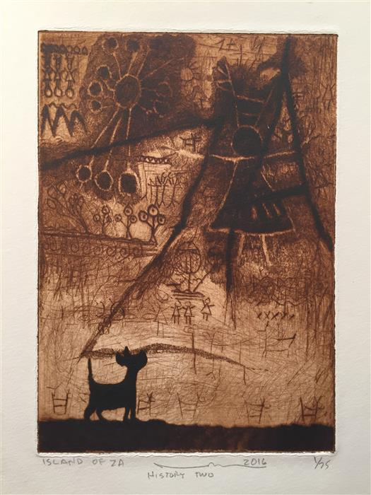 Discover Original Art by Doug Lawler | History II printmaking | Art for Sale Online at UGallery