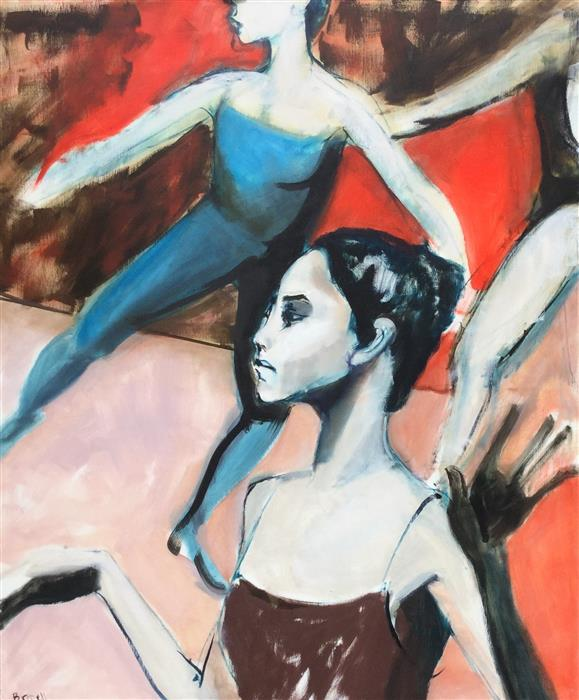 Discover Original Art by Liz Brozell | Dancers in Flight oil painting | Art for Sale Online at UGallery