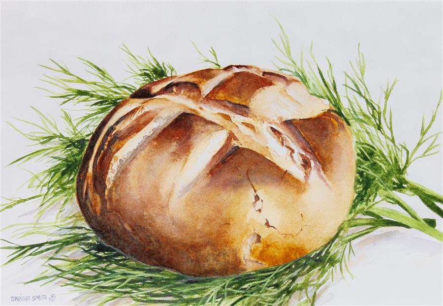 Discover Original Art by Dwight Smith | The Dill Nest watercolor painting | Art for Sale Online at UGallery
